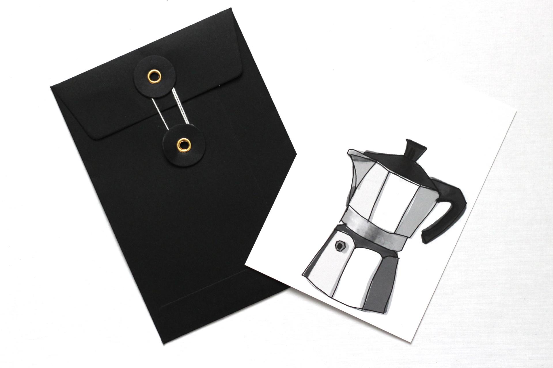 Kaffee Postkarte Mokka