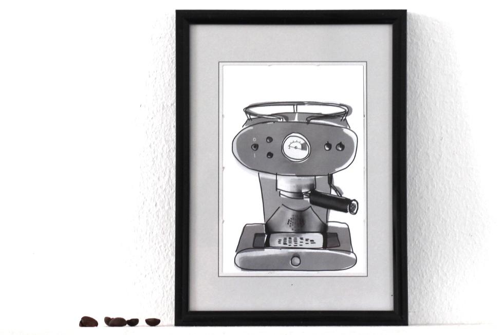Kaffee Poster Siebträger
