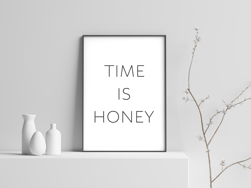 """Typo Poster """"Time is honey"""""""