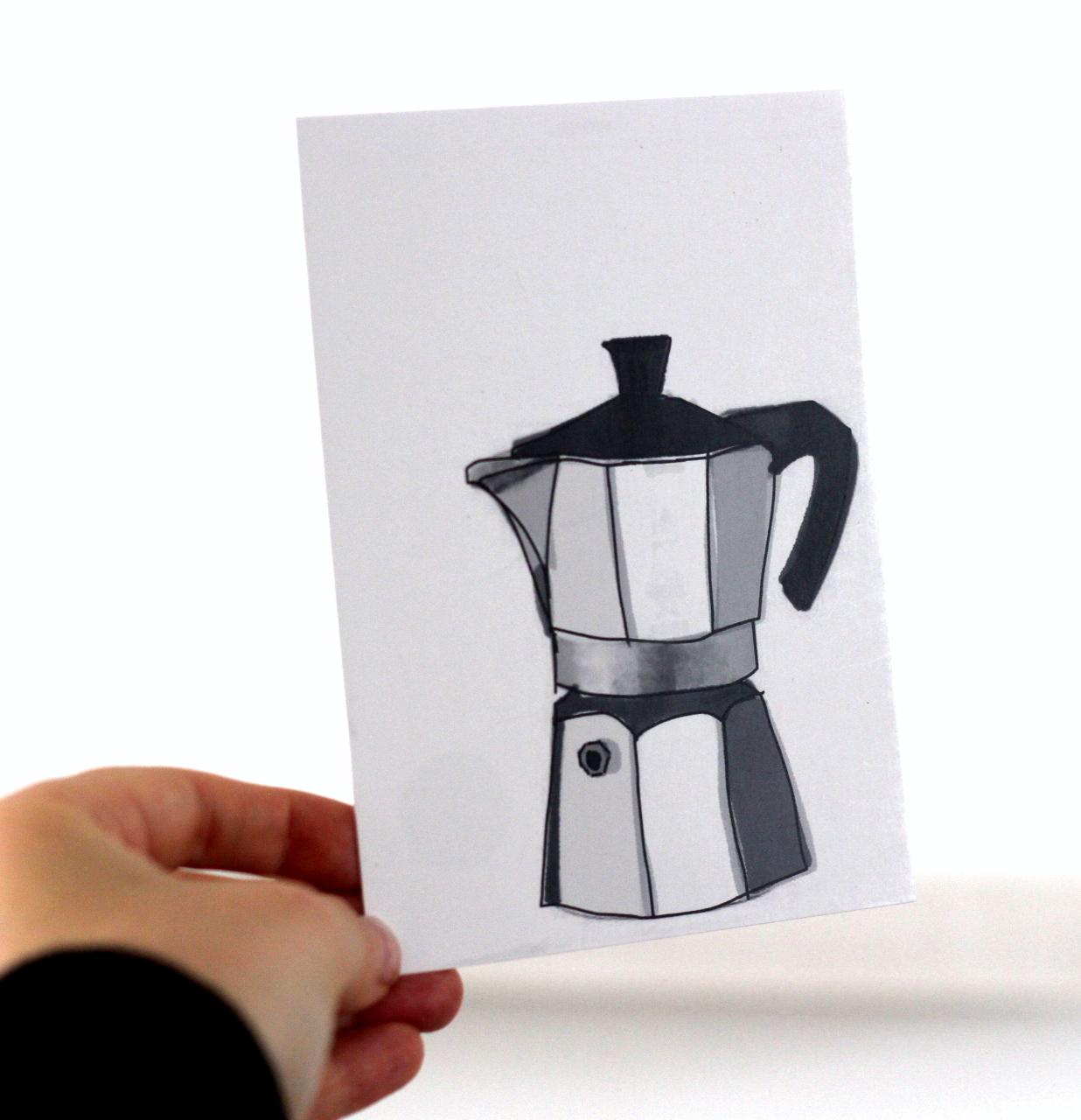 Kafee Postkarte Mokka