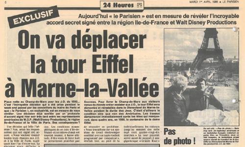 La Tour Eiffel à Marne-la-Vallée !
