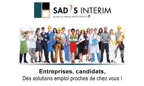 Sad's Intérim, pour travailler près de chez vous !