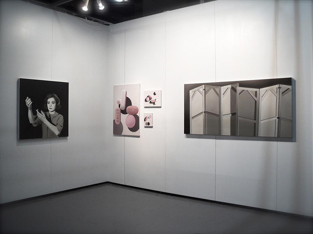 'Abstraction', 'Bayer I, II, III' and 'Private' as installed during Contemporary Istanbul, 2012