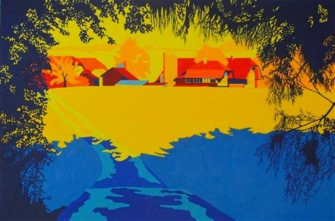 Wislen bei Worb, November 2009, 120x80cm