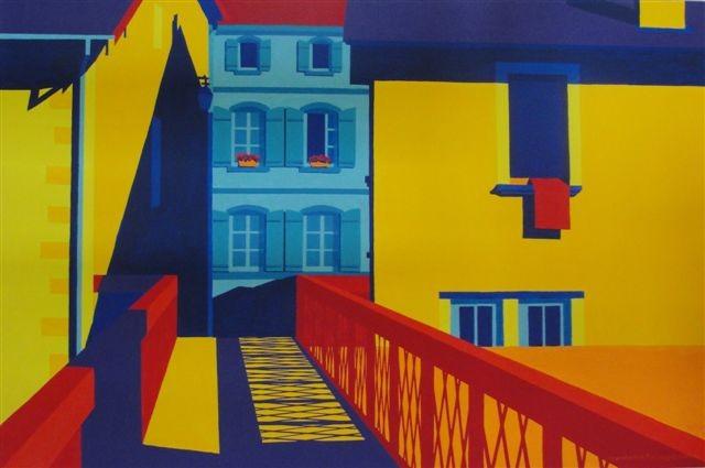 Le pont vert de Fontenay-le-chateau, 2007, 120x80cm