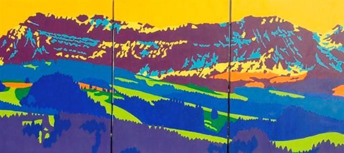 Hohgant im Bärgfrüehlig, Mai 2007, 3x50x70cm