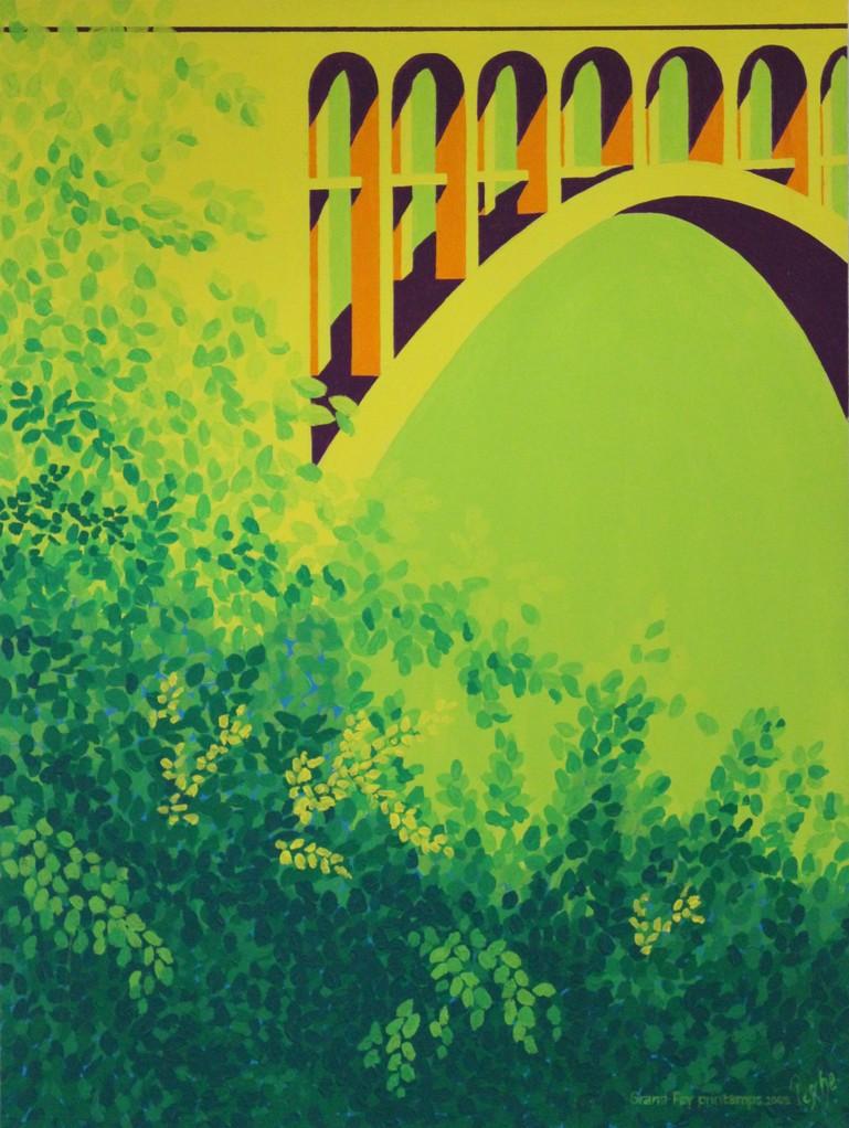 Grandfey, printemps 2010, 60x80cm