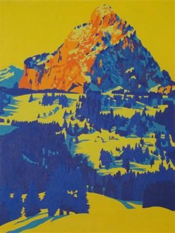 Druesbärg von der Rotenfluh, Winter 2009, 60x80cm