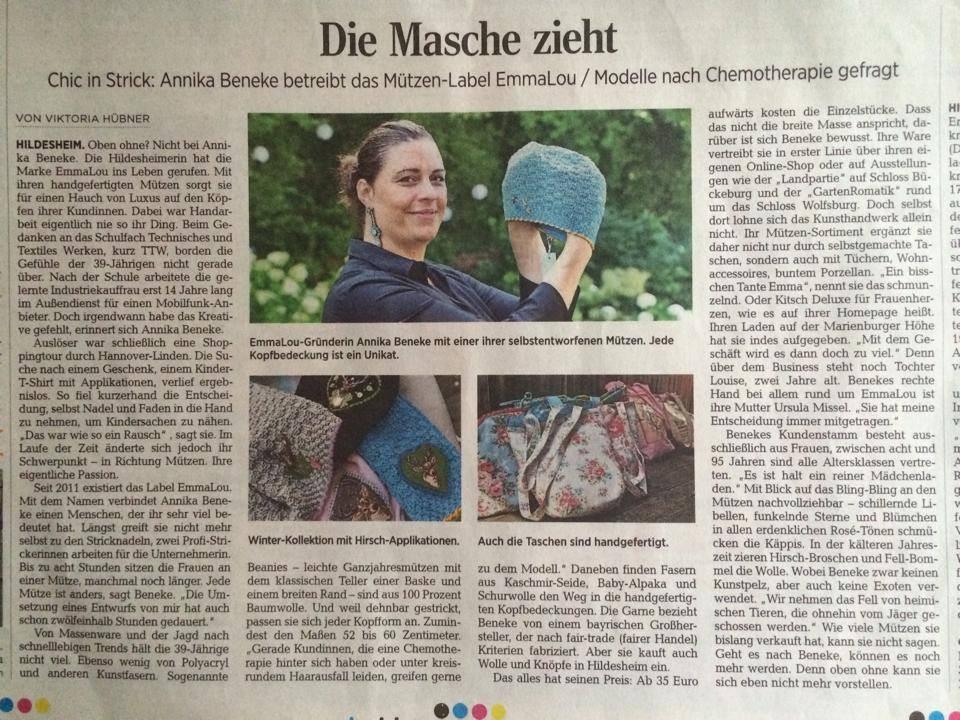 Artikel in der HAZ 2014