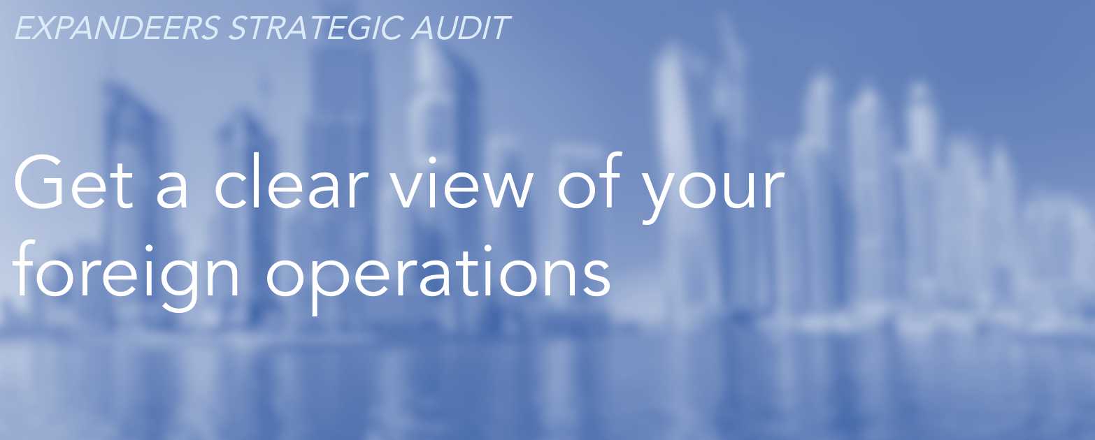 Audit of your abroad activities