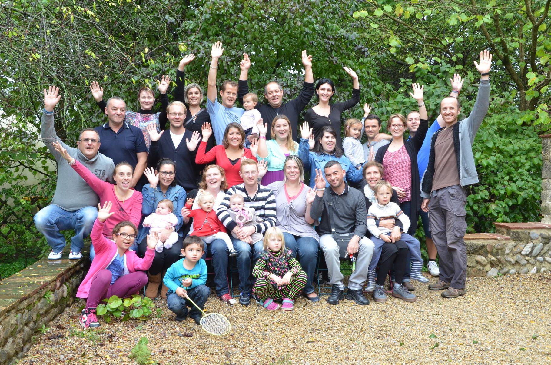 Les 13 familles présentes!