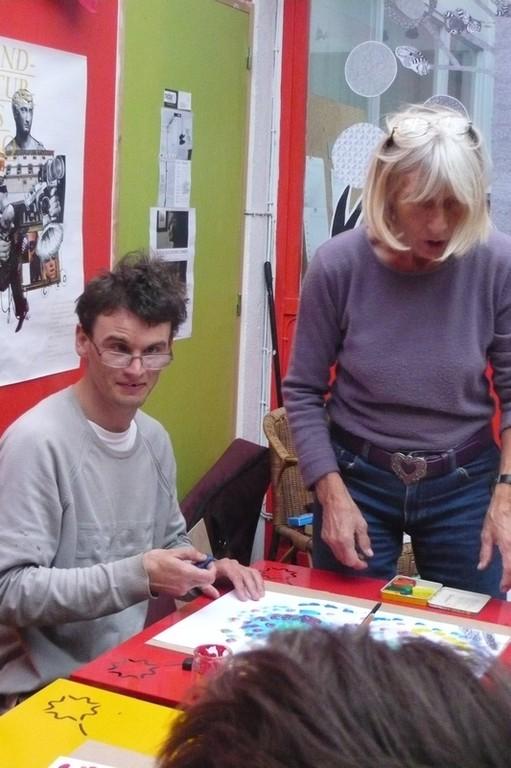 © SOPHIA - Découverte Peinture avec Brita en Septembre 2010