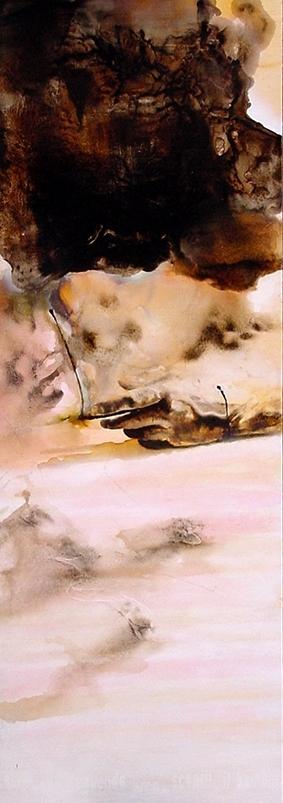 Hand 1 (2006) olio su legno - oil on wood, cm (187 x 85)