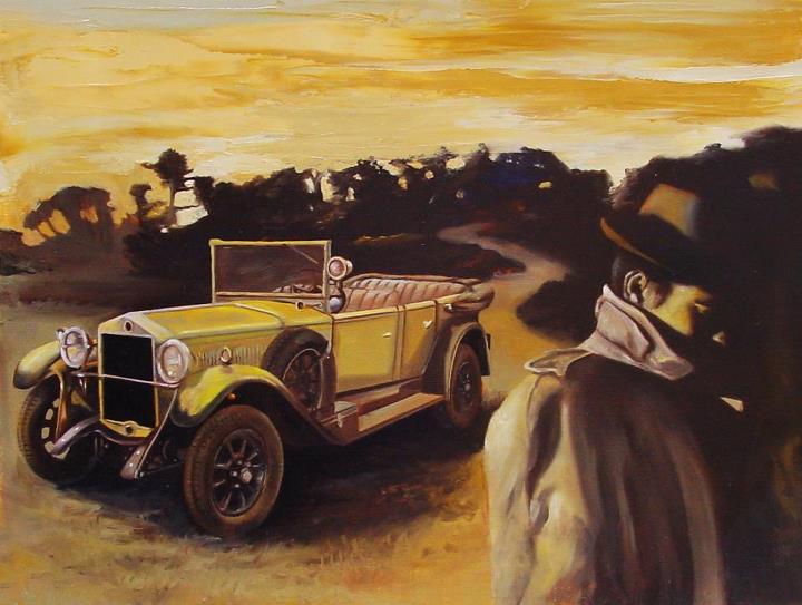 """""""La fine della strada"""" (2012) olio su carta telata, cm (40 x 30)"""