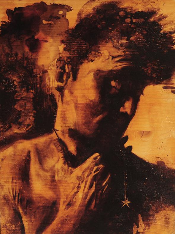 """""""Chissà quella 'ndo sta"""" (2009) olio su legno, cm (39,2 x 29,7)"""