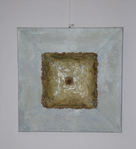Collage mit Silberlingen