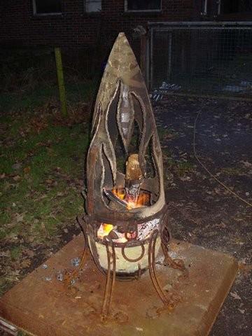 Feuerstelle aus einem Seezeichen