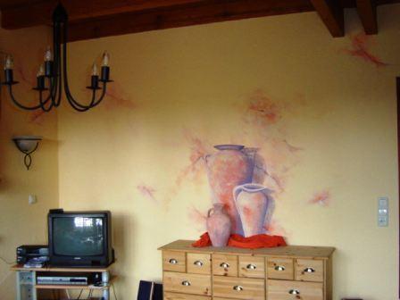 Wanddekoration in einem Wohnzimmer