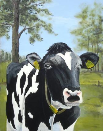 gemalte Kuh für ein Fenster