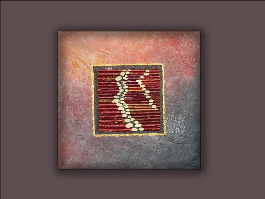 Collage mit rotem Cornus