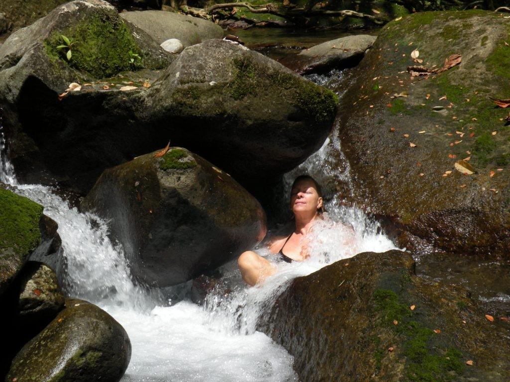 natürliche Flußmassage