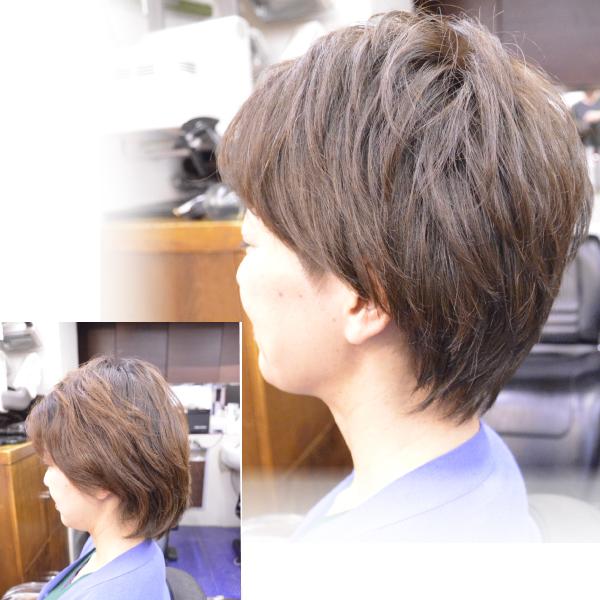 くせ毛を活かした髪型ショート