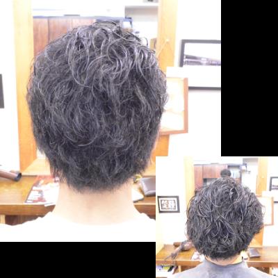 くせ毛を活かした髪型メンズ