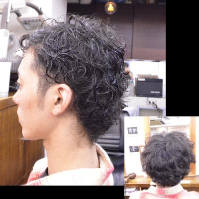 くせ毛を生かした髪型メンズ