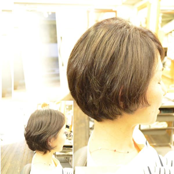 くせ毛を生かす髪型-ボブ-女性-40代