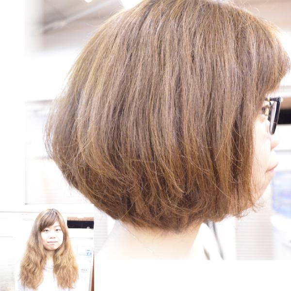 くせ毛を活かした髪型ボブ
