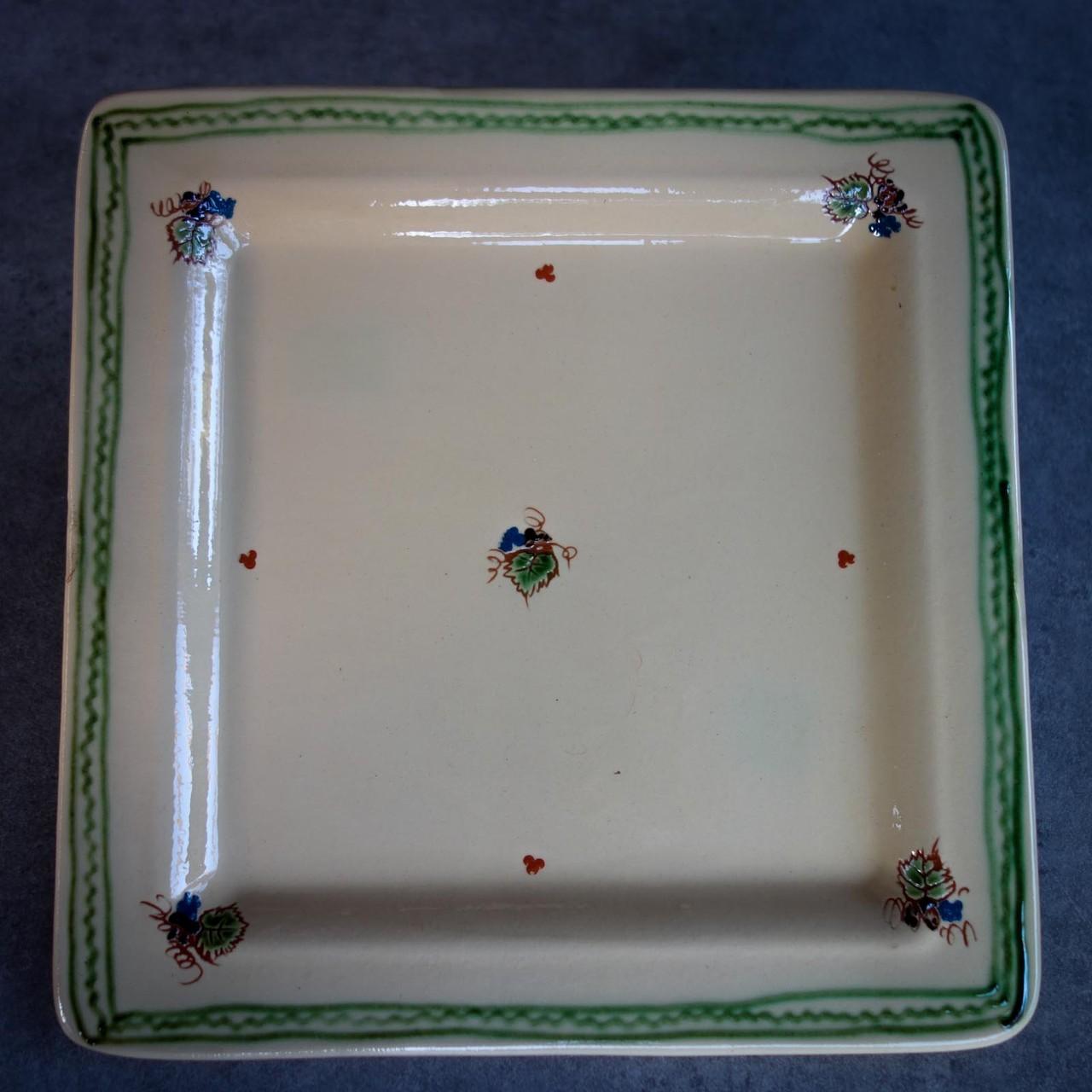 Les assiettes (plate gamme carré crème)