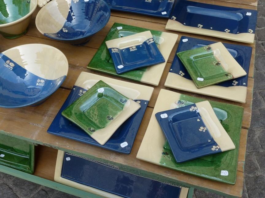 Compositions d'assiettes carrées