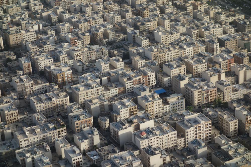 Vom über 400 Meter hohen Milad-Tower schauen wir auf das moderne Teheran