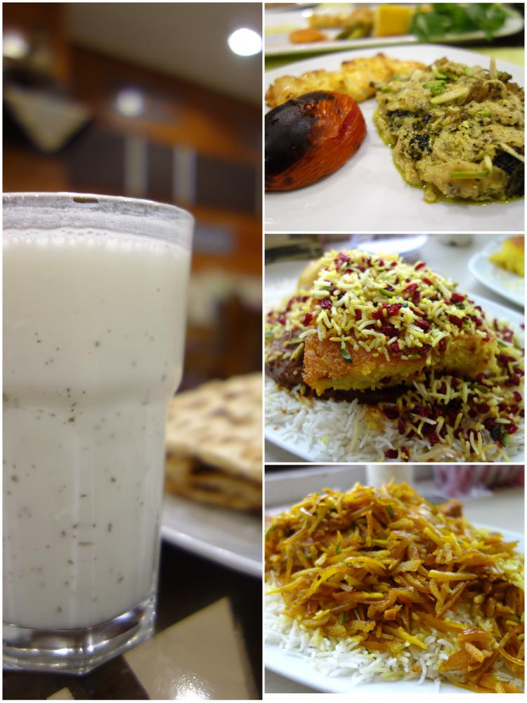 Kulinarische Entdeckungen: Statt Bier gibt es Doogh (Yoghurt mit Wasser und Gewürzen), statt Currywurst-Pommes gibt es Kashke Bademjam (Auberginenmus) und Co.