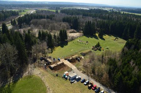 Luftbild Lager VII - Roman Völk Europäische Holocaustgedenkstätte