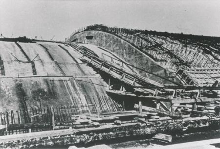 Bunker, Teilsegment mit Schalung Archiv Deiler