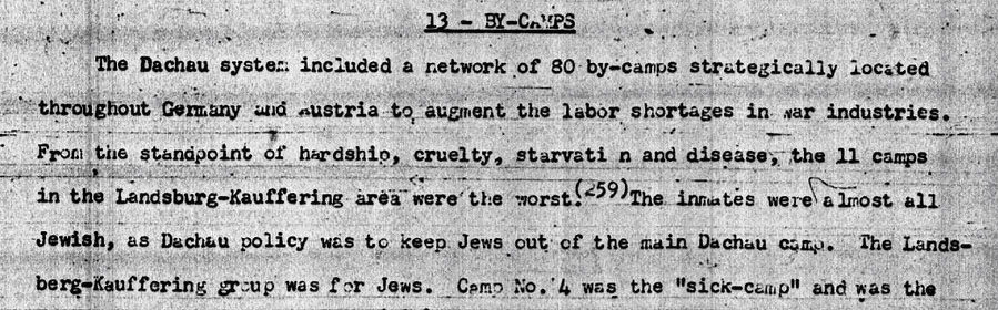 Dachau Prozess aus Anklageschrift