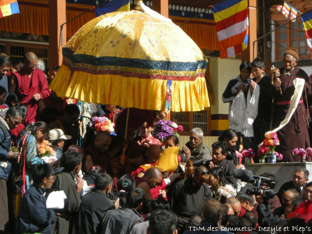 Venue du Ringpoche au Gompa de Leh