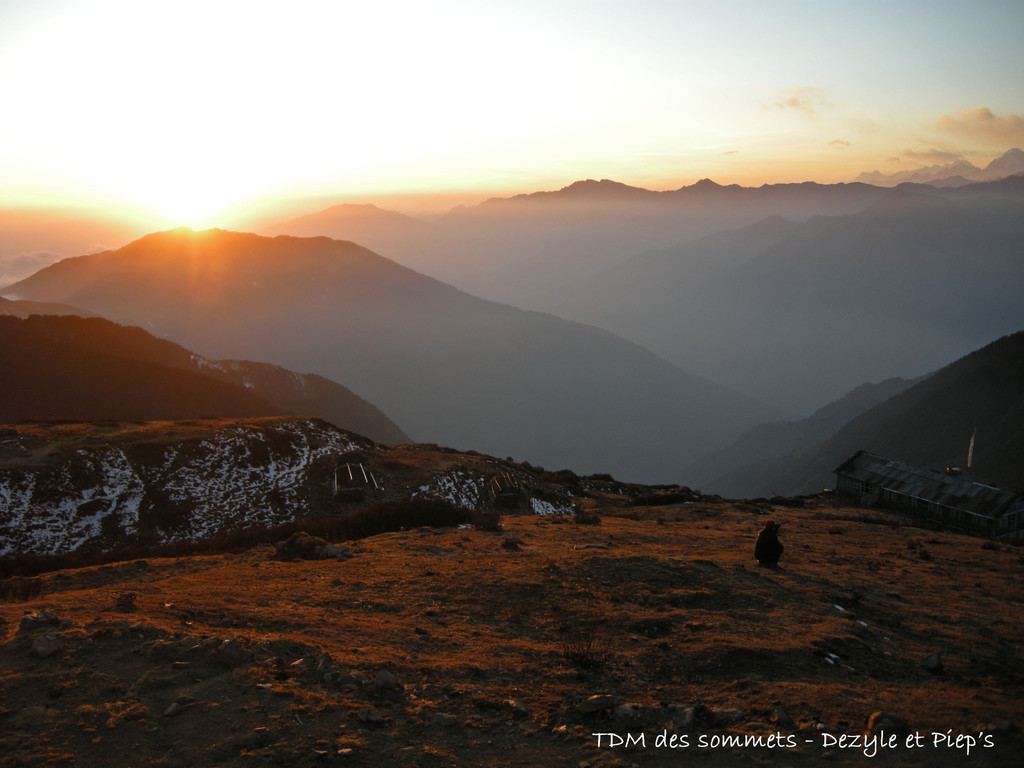 Coucher de soleil depuis Laurebina Yak