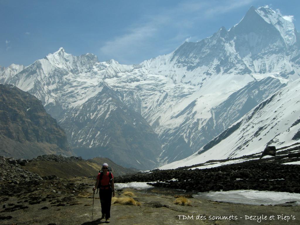 Arrivée au camp de base de l'Annapurna
