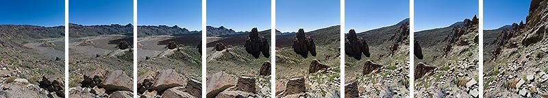 Las Canadas del Teide, Teneriffa. 8 Einzelfotos als Vorlage für eine Panorama-Montage. Leica M9 mit 2,8/21 mm Biogon. Foto: Klaus Schoerner
