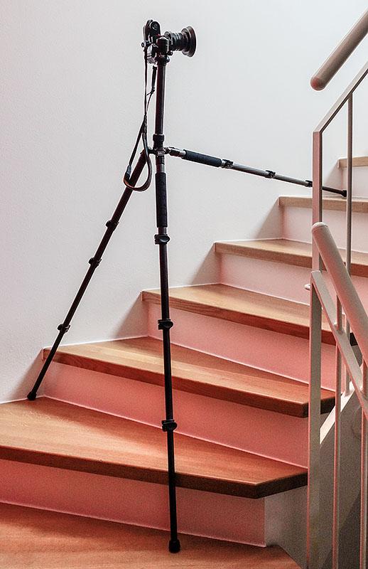 Erfahrungen mit dem SIRUI ET-2204 / KTV224 im Treppeneinsatz. Foto: Klaus Schörner