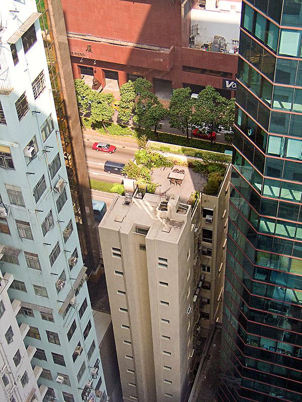 Dachgarten im Zentrum von Hong Kong. Foto: Klaus Schoerner