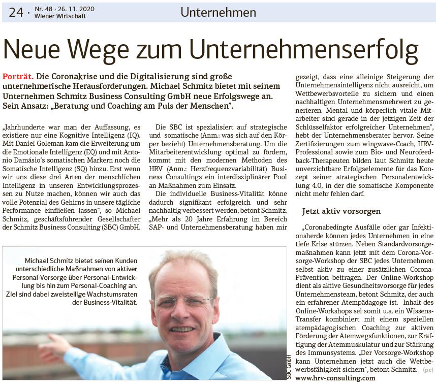 Neue Wege zum Unternehmenserfolg - Schmitz Business Consulting GmbH