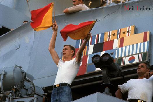 SIGNALMAN - VIETNAM WAR .. USS NEW JERSEY, BB-62 .. GO NAVY!