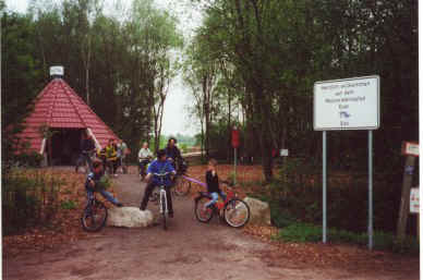 Eingang Moorinfopfad