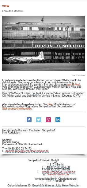 """- 02.09.2020 - E-Mail-Newsletter """"Tempelhofer Feld"""""""