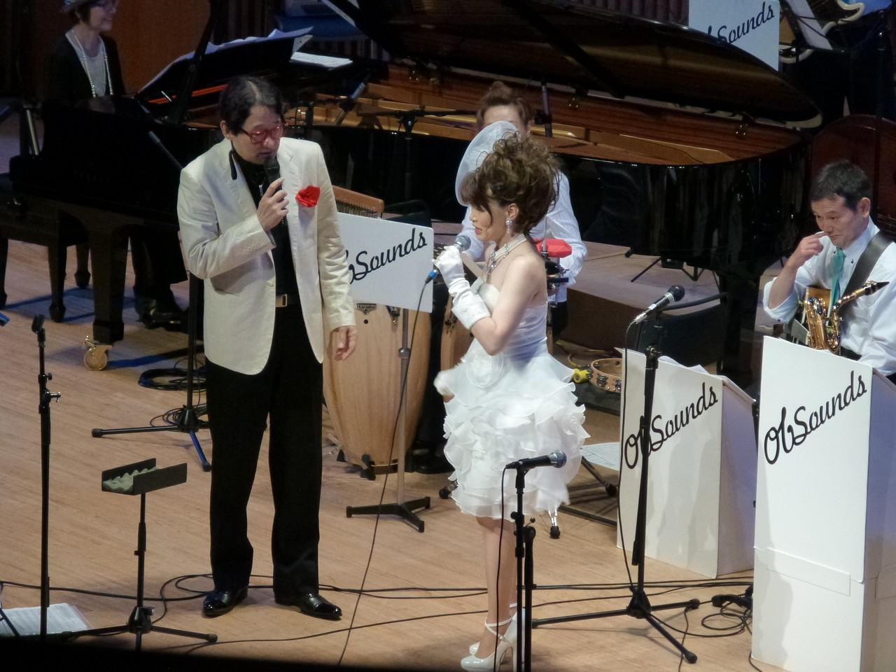 いつもキュートなジャズヴォーカリスト、吉澤紀子さん。