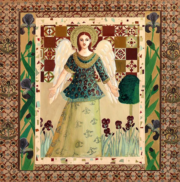 Engel, Schutzengel, Freude, Liebe, Friede, Blumen, Natur, Iris, Schwertlilien,