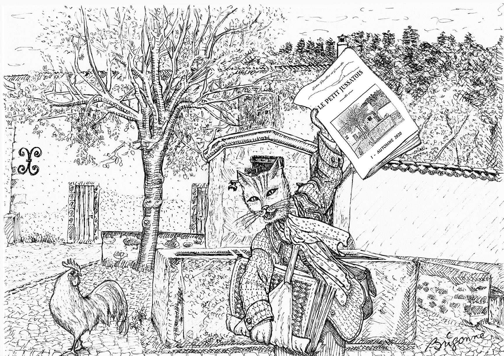 Jussat, Chanonat : illustrations parues dans Le Petit Jussatois, de l'automne 2020 à l'été 2021
